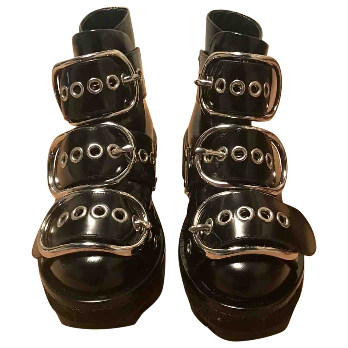 Alexander Wang - Boots   pour femme en cuir verni - noir