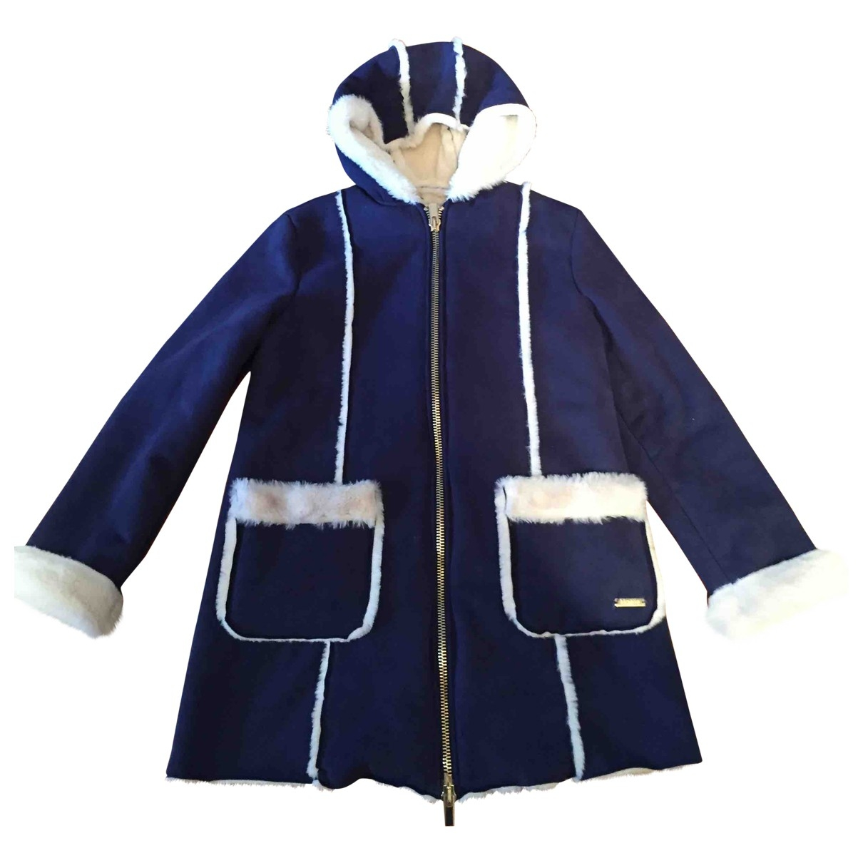 Non Signé / Unsigned \N Blue Suede jacket & coat for Kids 10 years - up to 142cm FR