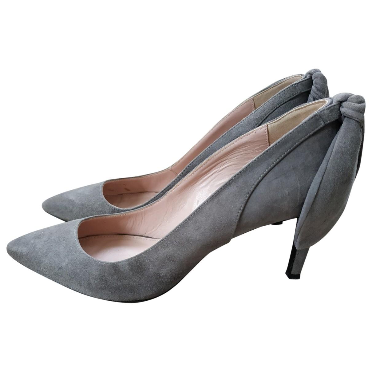 Carven \N Grey Suede Heels for Women 39 EU