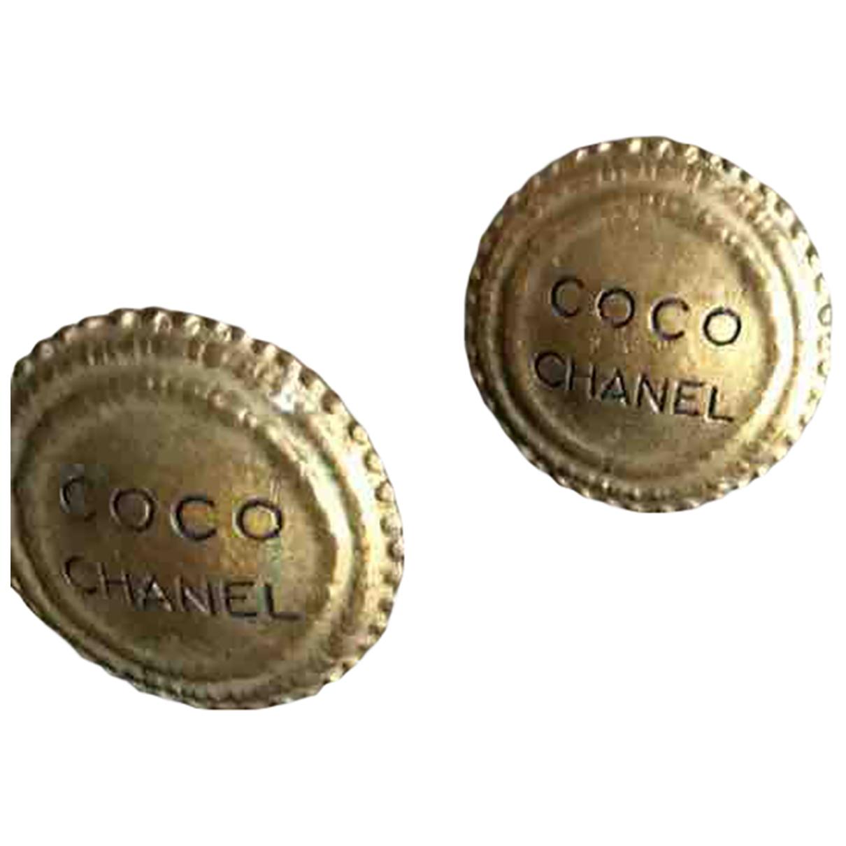 Chanel - Boucles doreilles CHANEL pour femme en metal - dore