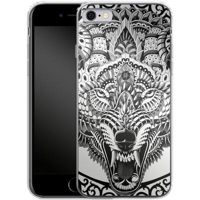 Apple iPhone 6s Silikon Handyhuelle - Wolf Head von BIOWORKZ