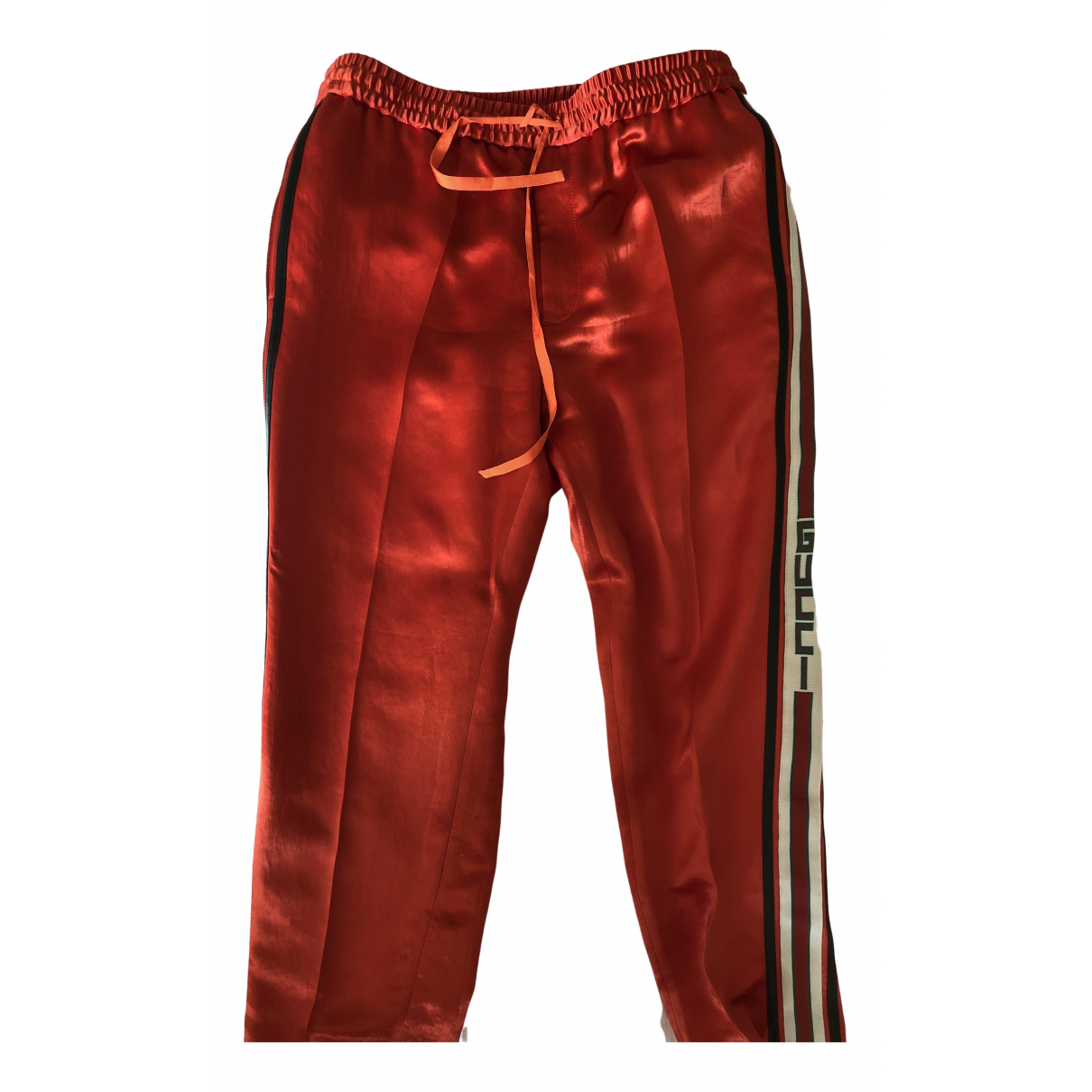 Gucci \N Red Trousers for Men 46 IT