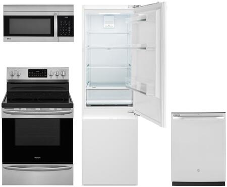 4 Piece Kitchen Appliances Package with Bertazzoni REF24PR  Professional Series 24