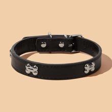 1 Stueck Hundehalsband mit Knochen Dekor