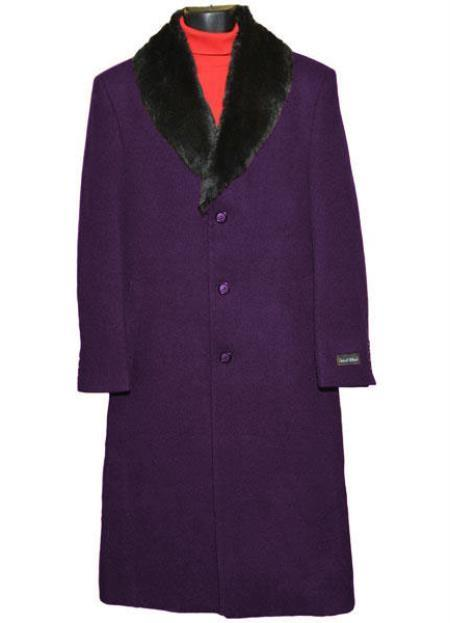 Mens Big And Tall Raincoats Overcoat Topcoat 4XL 5XL 6XL Dark Purple
