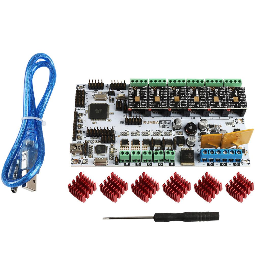 MKS RUMBA Motherboard + 6x TMC2130 Driver Kit for 3D Printer