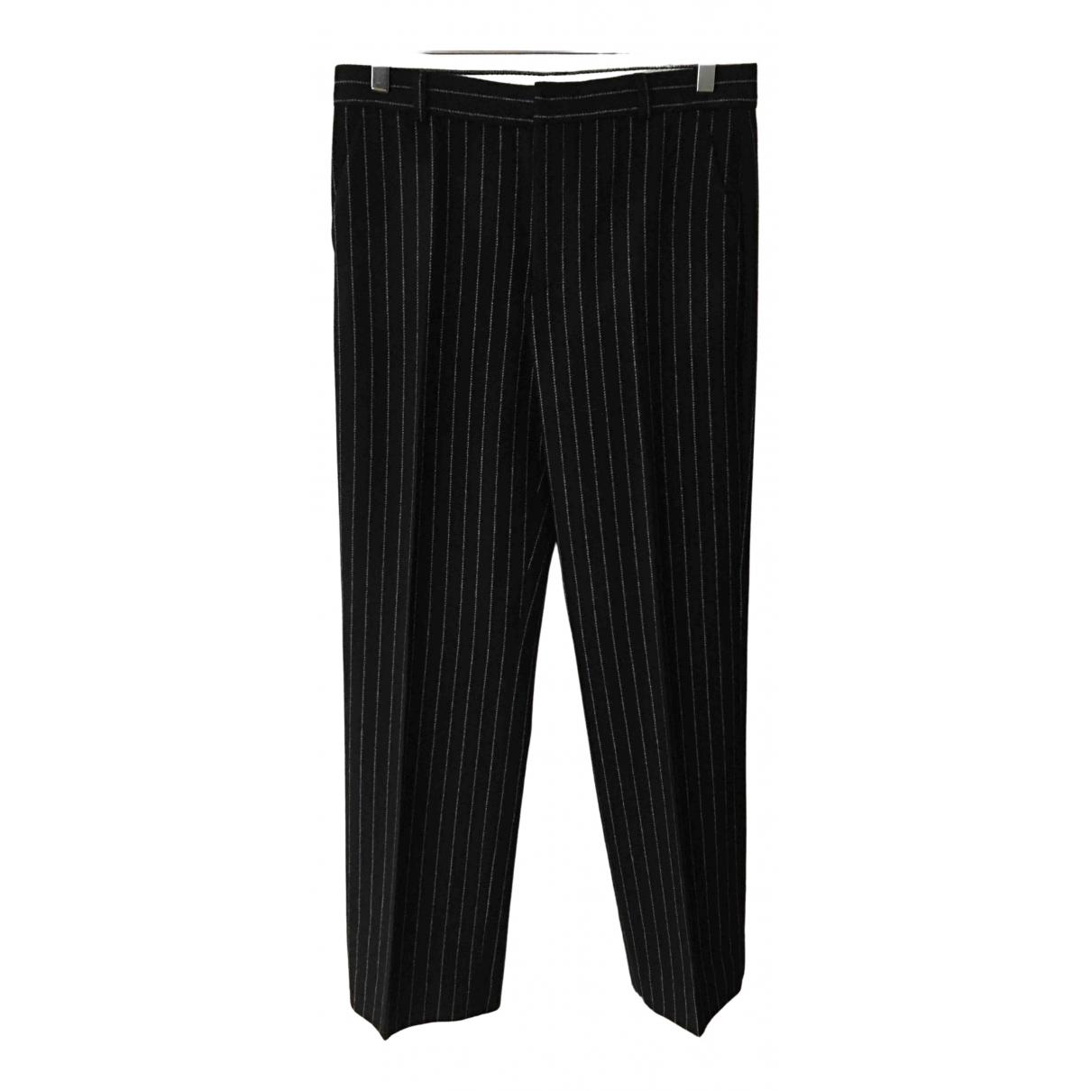 Joseph - Pantalon   pour femme en laine - noir