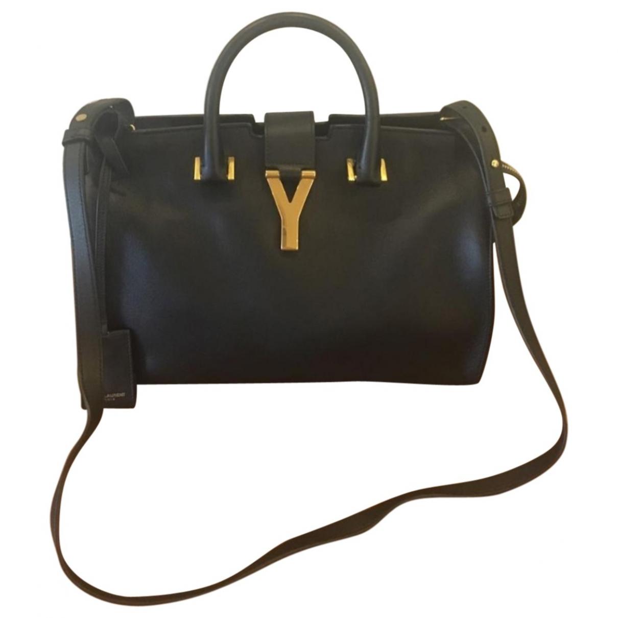 Saint Laurent Chyc Handtasche in  Schwarz Leder
