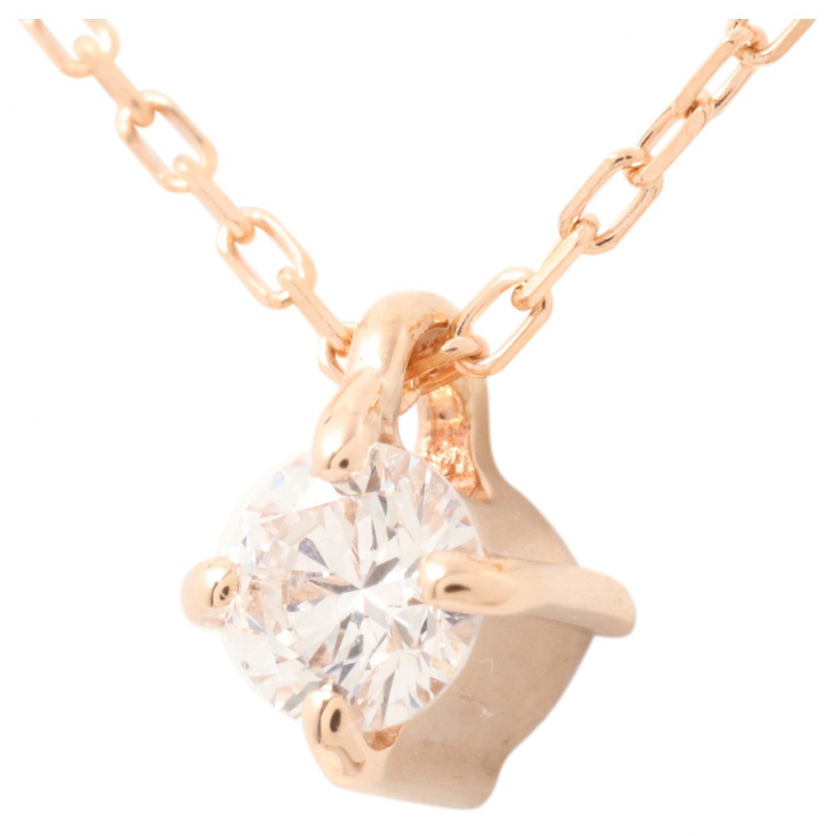 Non Signé / Unsigned N Pink gold necklace for Women N