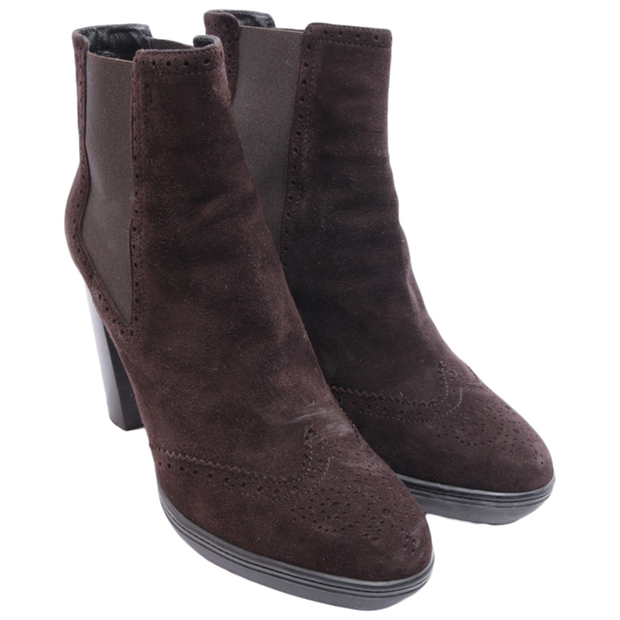 Tod's \N Brown Leather Ankle boots for Women 39.5 EU