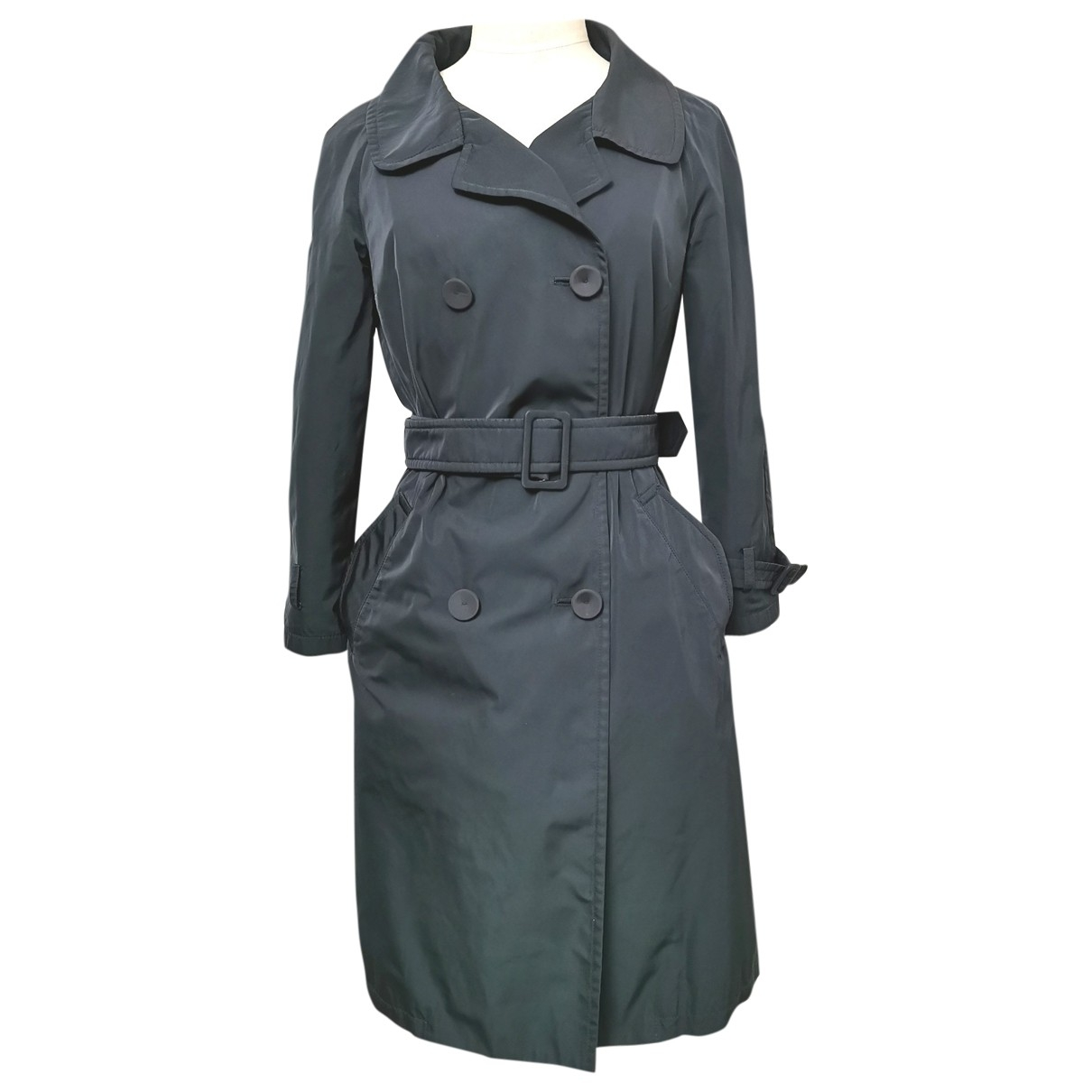 Ermanno Scervino \N Trench in  Blau Polyester
