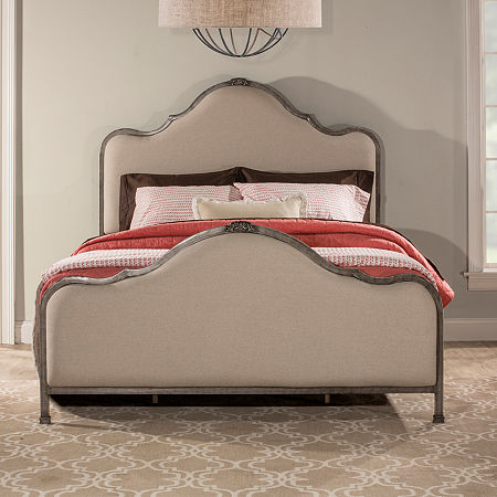 Delray Tweed Upholstered Bed, One Size , Stainless Steel