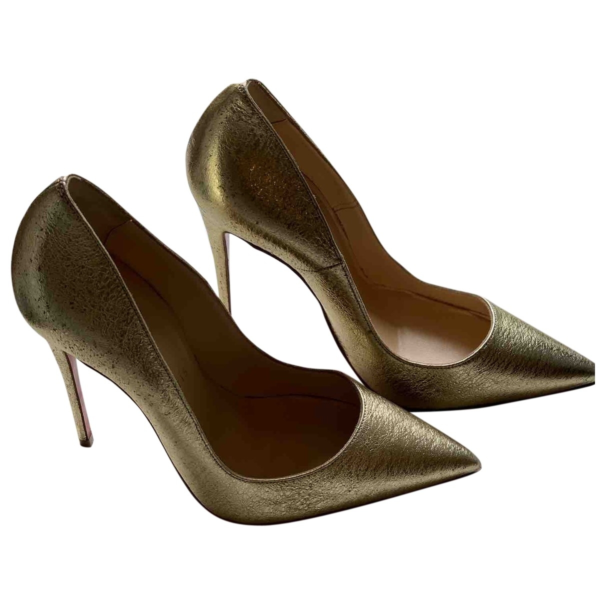 Christian Louboutin So Kate  Pumps in  Gold Leder