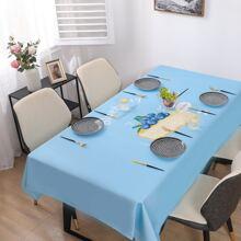 Tischdecke mit Dessert Muster