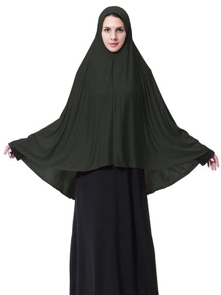 Milanoo Muslim Hijab Women Solid Color Scarf
