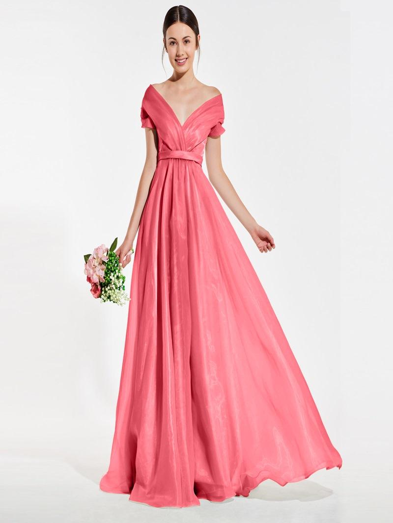 Ericdress Off-The-Shoulder A-Line Bridesmaid Dress