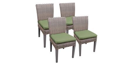 Monterey Collection MONTEREY-TKC290b-ADC-2x-C-CILANTRO 4 Side Chairs - Beige and Cilantro