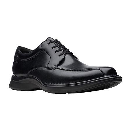Clarks Mens Kempton Run Oxford Shoes, 12 Medium, Black