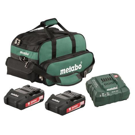 Metabo 2x 2.0Ah Li-Ion Ultra-M Compact Battery Starter Kit