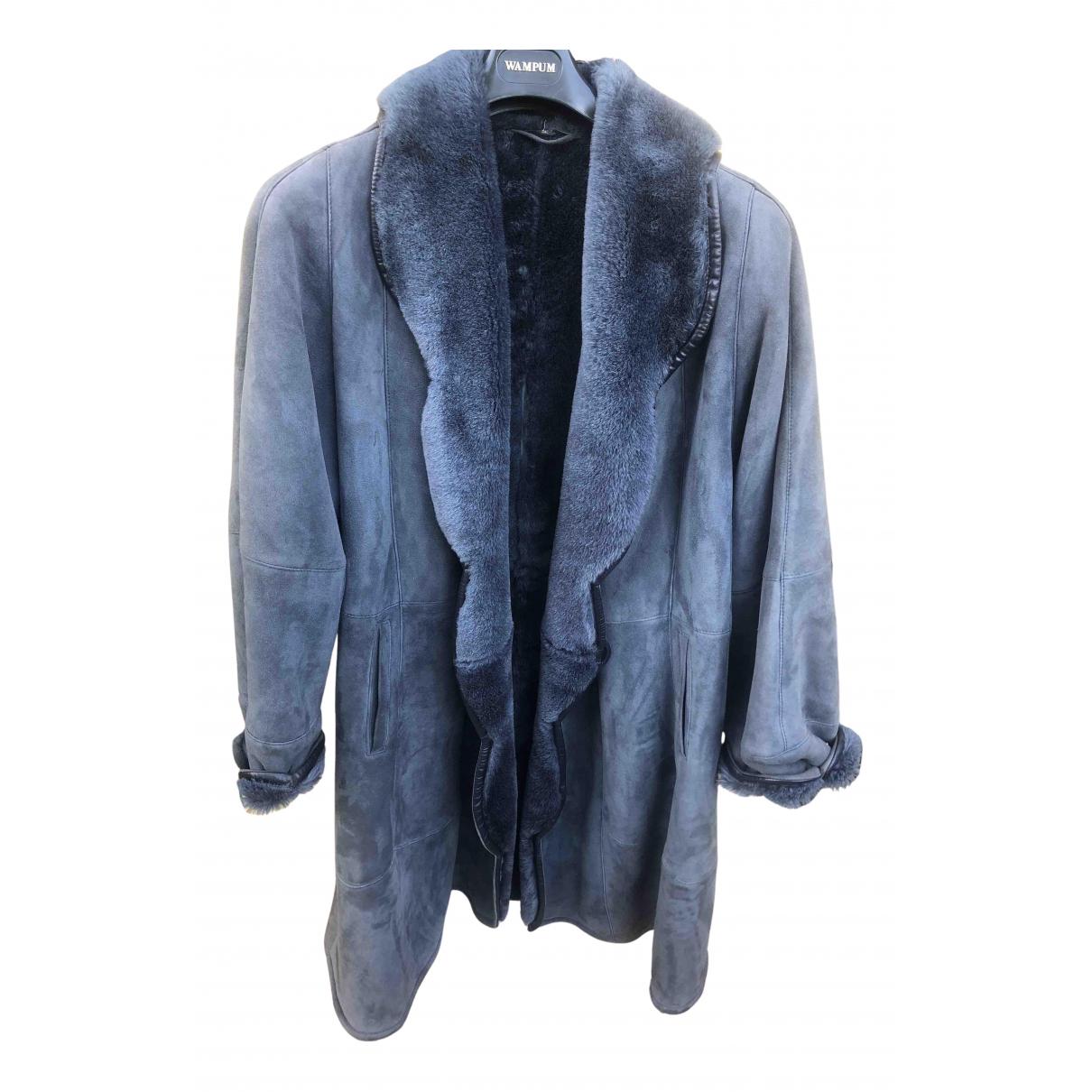 - Manteau   pour femme en mouton - bleu