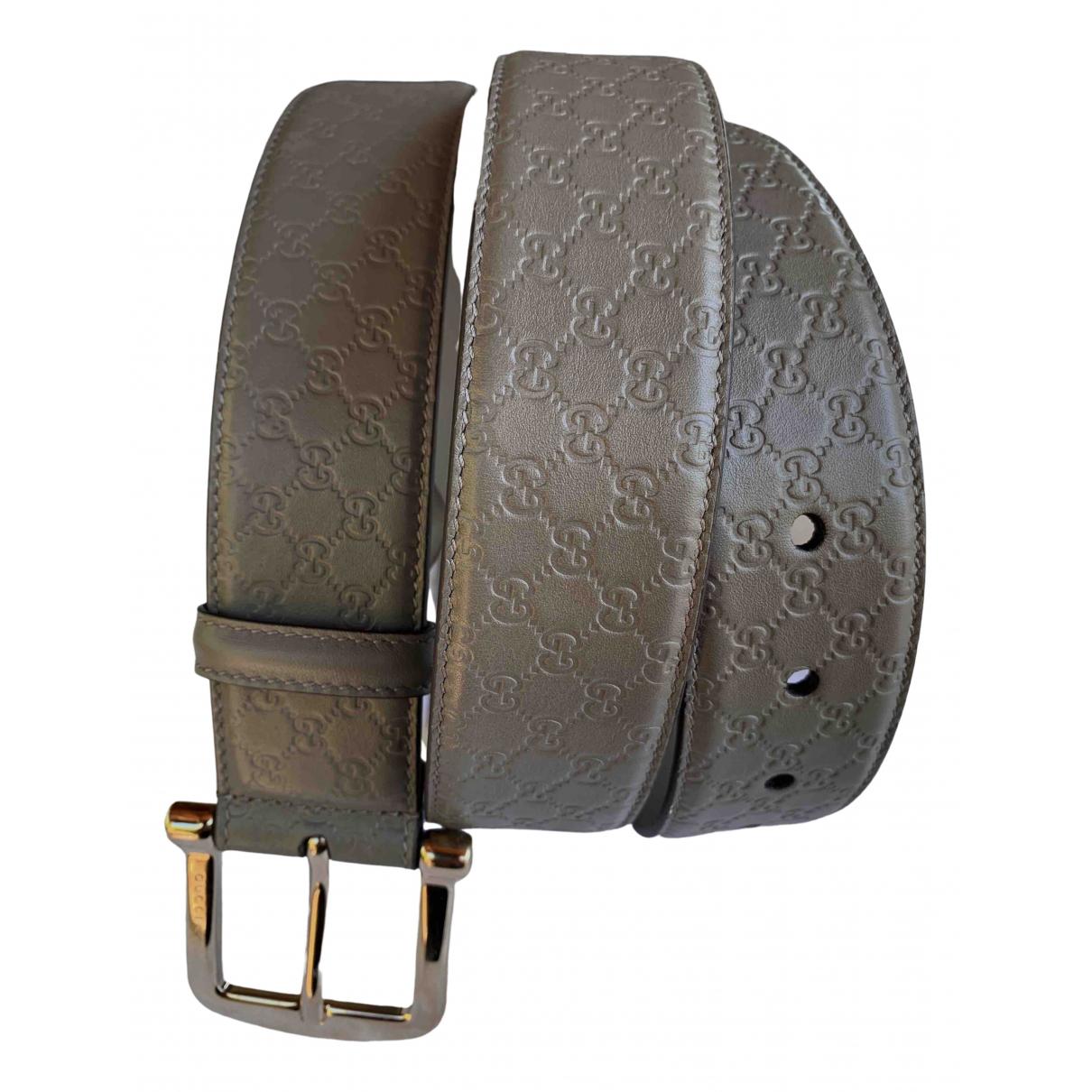 Gucci \N Grey Leather belt for Men XL international