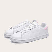 Perforated Detail Lace-up Front Skate Shoes