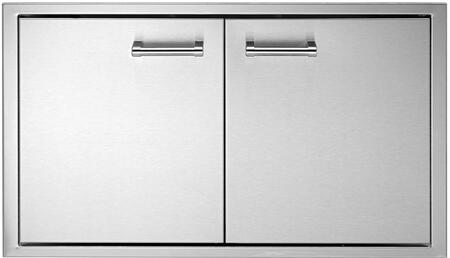 DHAD32-C 32 Double Access Doors with 304 Stainless Steel Construction  One-piece 18 Gauge Frame  and Adjustable European Hinges  in Stainless