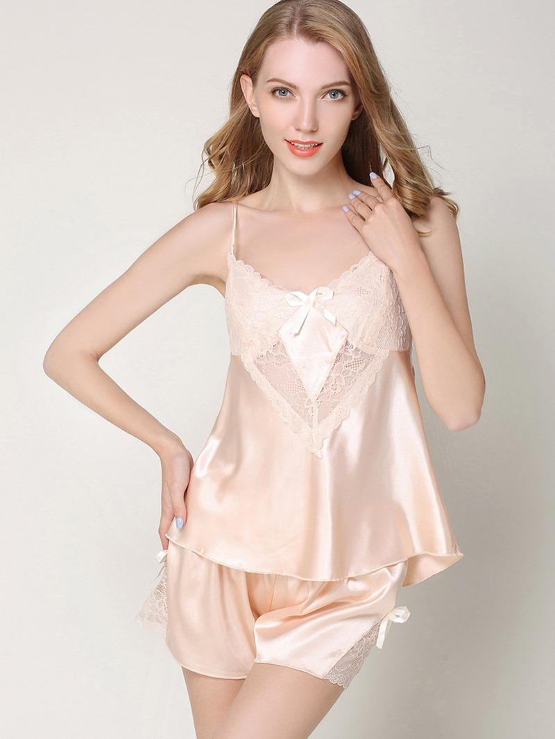 Ericdress Pullover Plain Summer Short Sleepwear Pajama Set