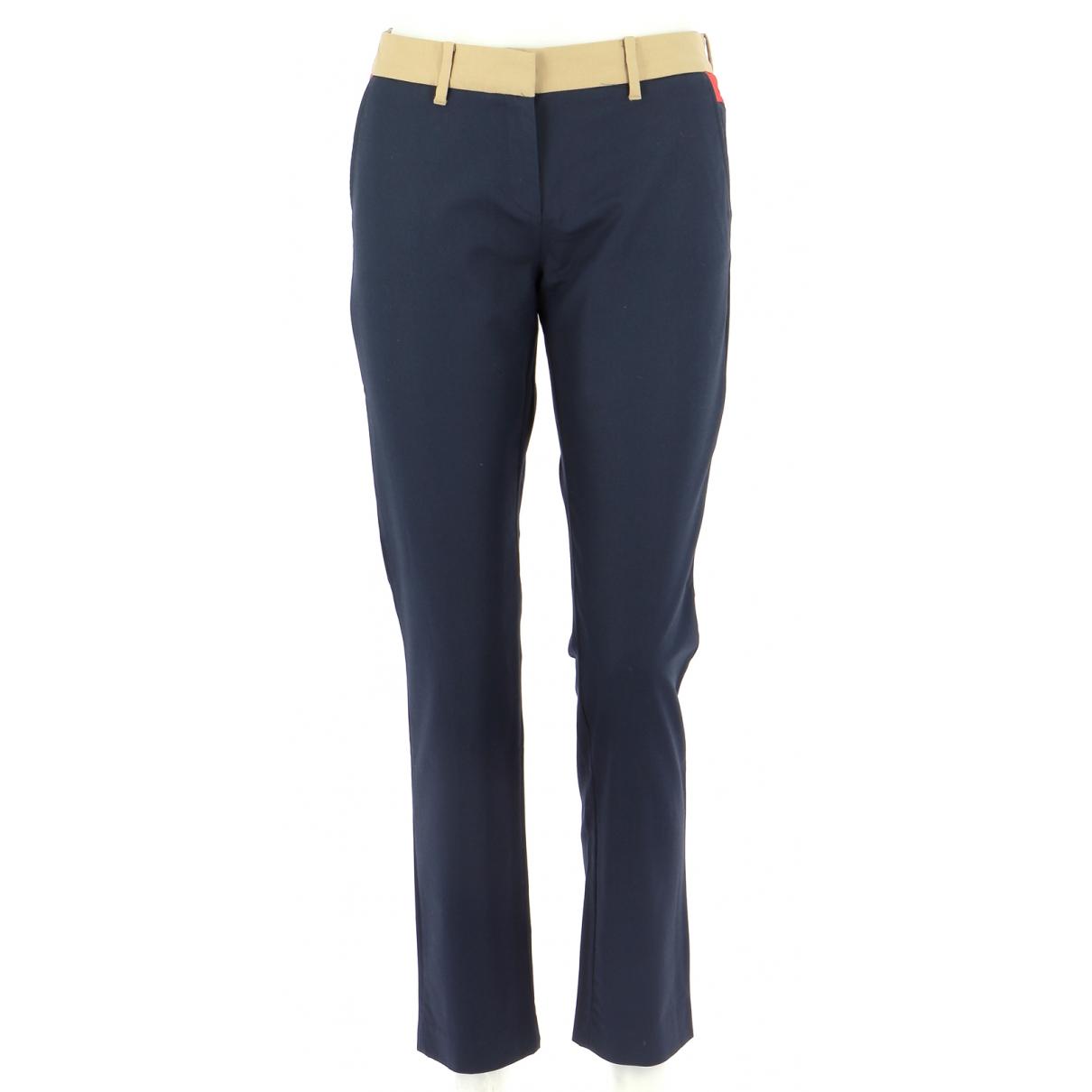 Pantalones en Algodon Marino Tommy Hilfiger