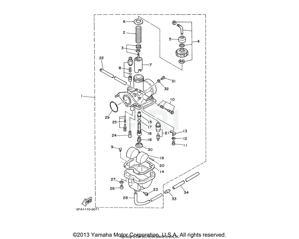 Yamaha OEM 5HH-14190-18-00 NEEDLE VALVE ASSY