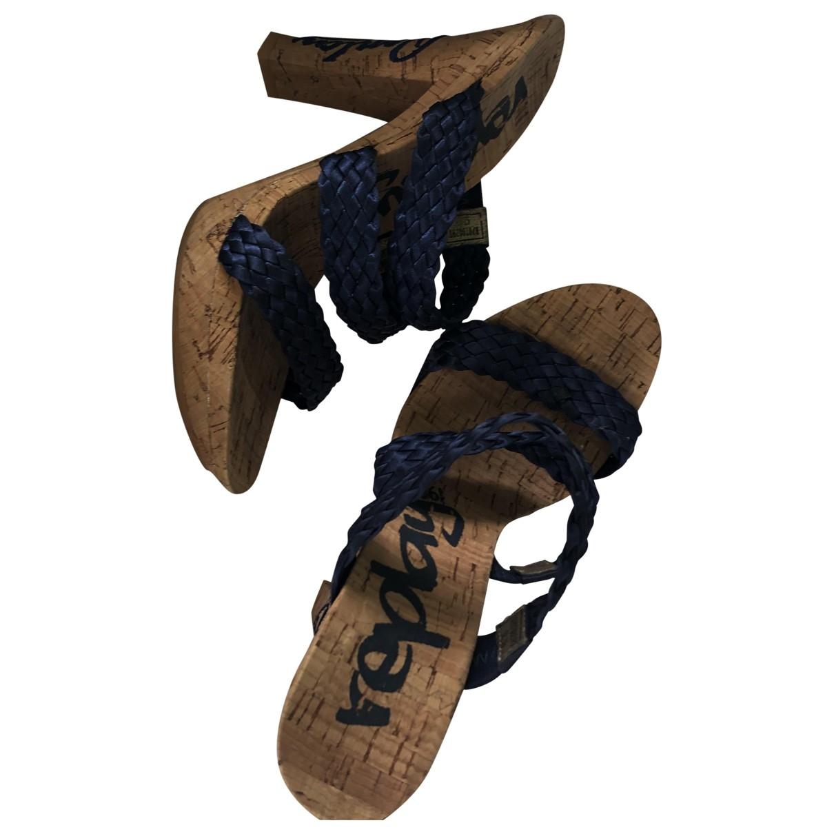Replay \N Sandalen in  Blau Leinen