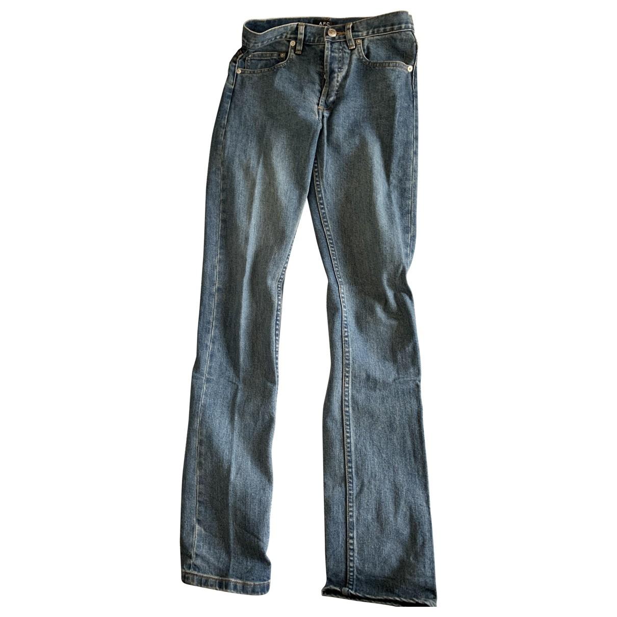 Apc Jean Droit Blue Denim - Jeans Jeans for Women 24 US