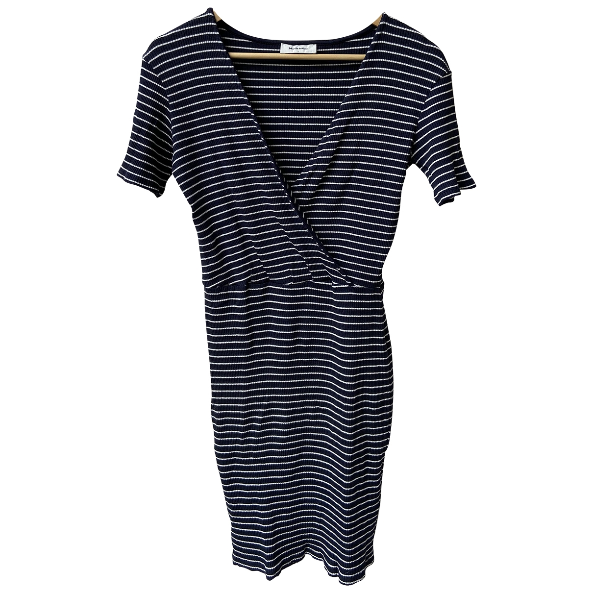 Non Signé / Unsigned \N Blue Cotton - elasthane dress for Women 36 FR