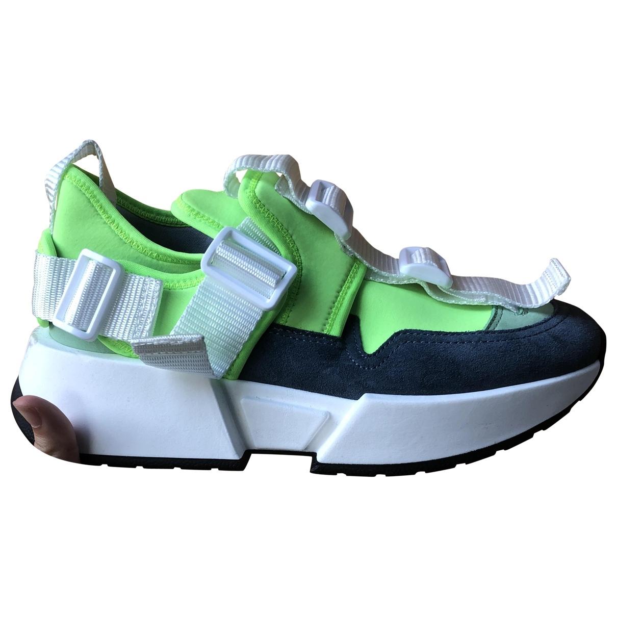 Mm6 \N Sneakers in  Gruen Leinen