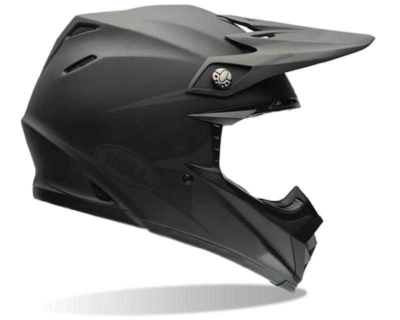 Bell Racing 7060864 Moto-9 Matte Black Intake Helmet 58-59 | LG