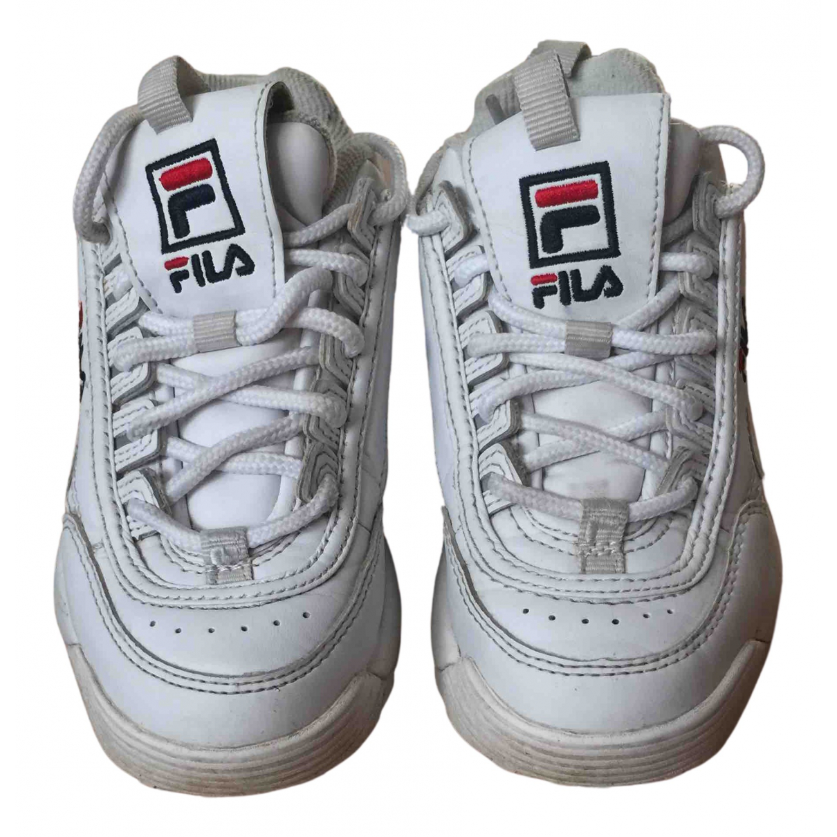 Fila N White Leather Trainers for Kids 31 FR