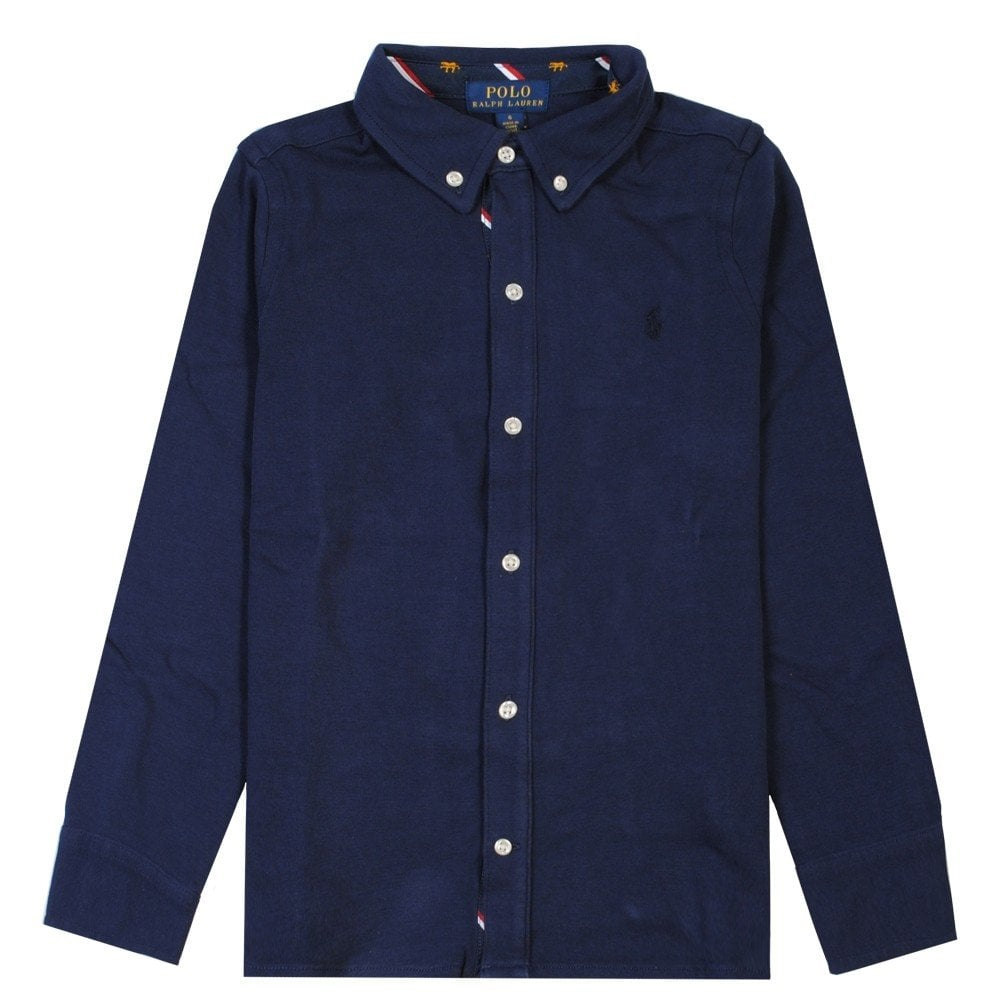 Ralph Lauren Kids Navy Shirt Colour: NAVY, Size: 4 YEARS