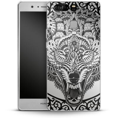 Huawei P9 Silikon Handyhuelle - Wolf Head von BIOWORKZ