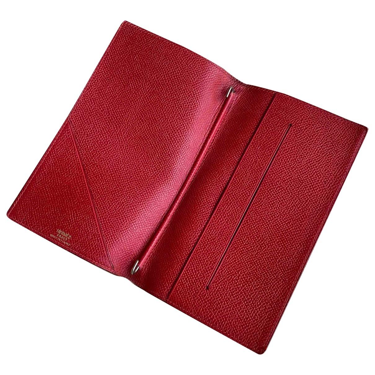 Hermes \N Kleinlederwaren in  Rot Leder