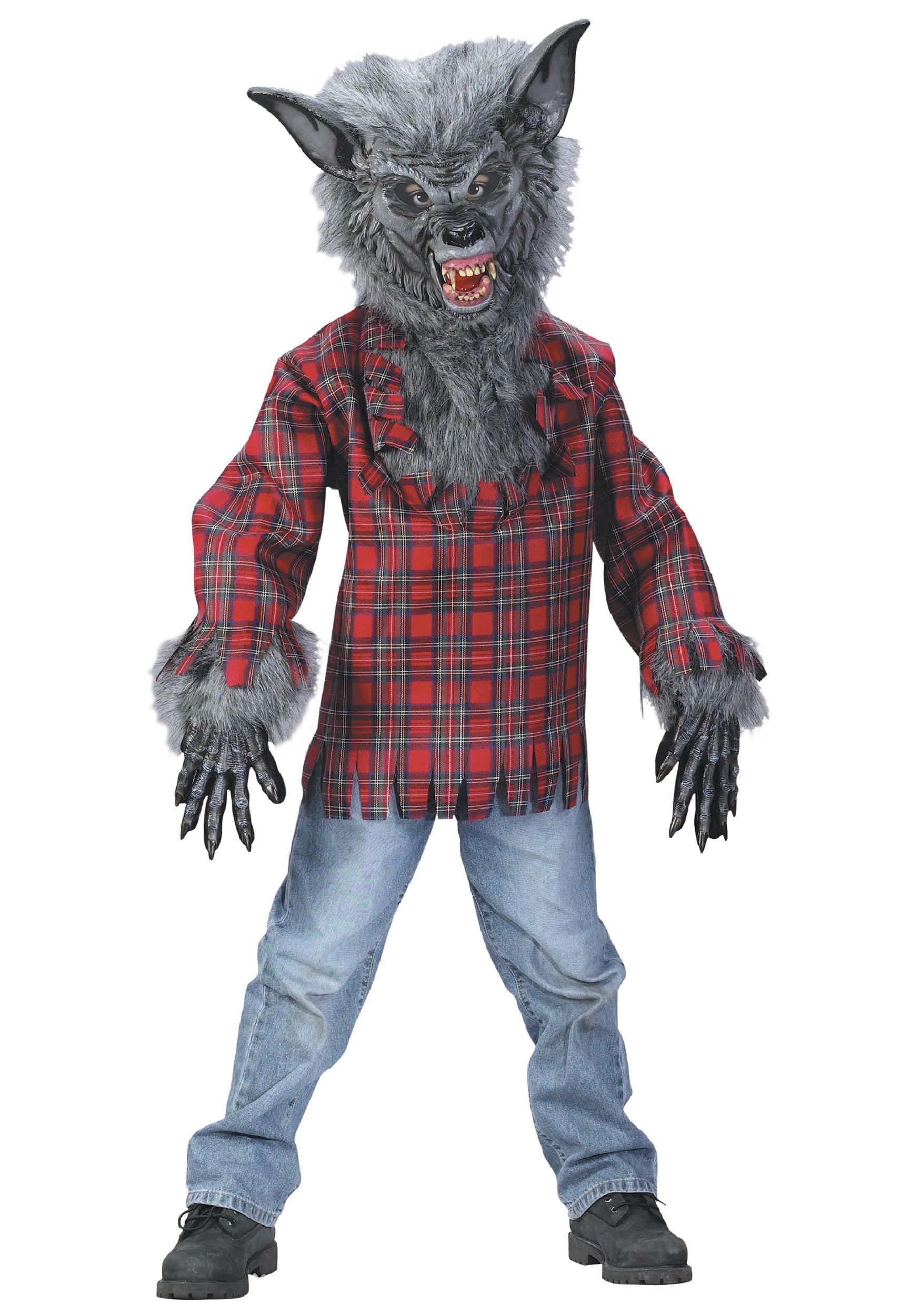 Grey Werewolf Costume for Kids