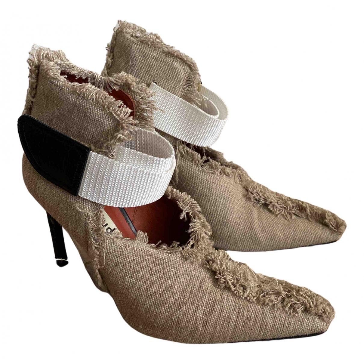 Acne Studios \N Khaki Cloth Heels for Women 37 EU