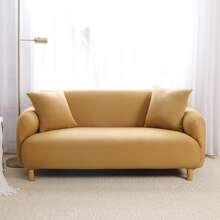 Solid Stretchy Sofa Cover Without Cushion Cover