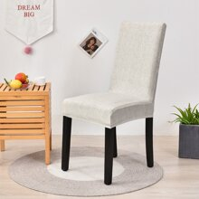 Solid Stretchy Chair Cover