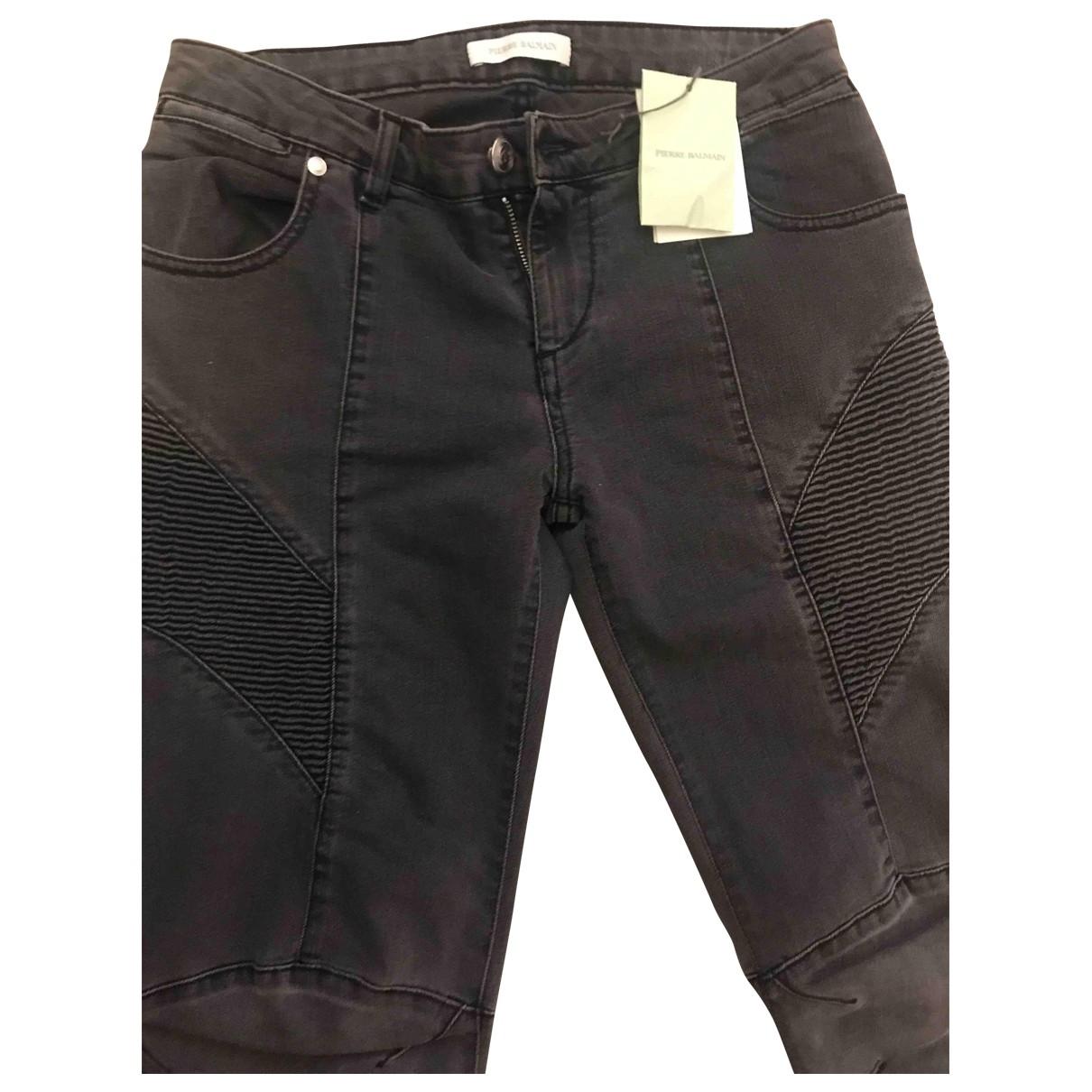 Balmain \N Grey Cotton - elasthane Jeans for Women 38 FR