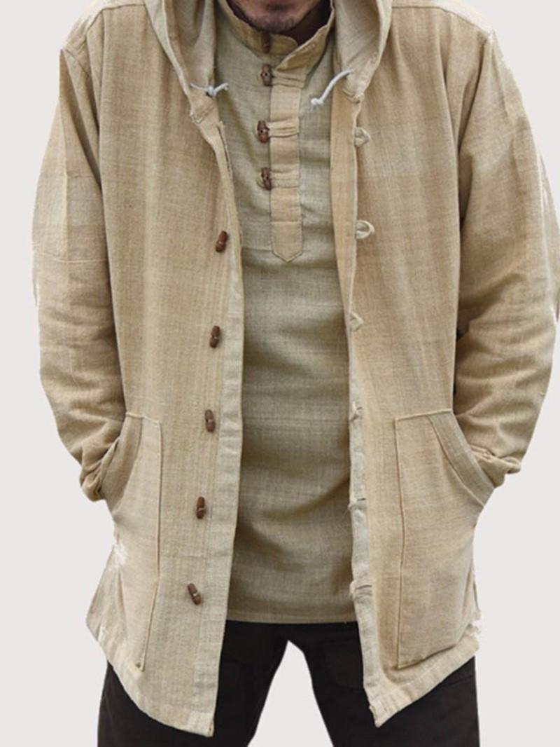 Ericdress Pocket Plain Hooded Loose Fall Jacket