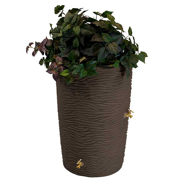 Good Ideas Impressions Palm Rain Saver, 65 Gallon, Oak