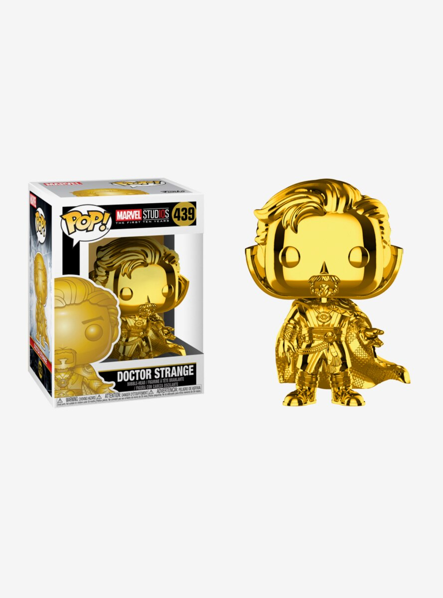Funko Pop! Marvel Studios: The First Ten Years Gold Chrome Doctor Strange Bobble-Head