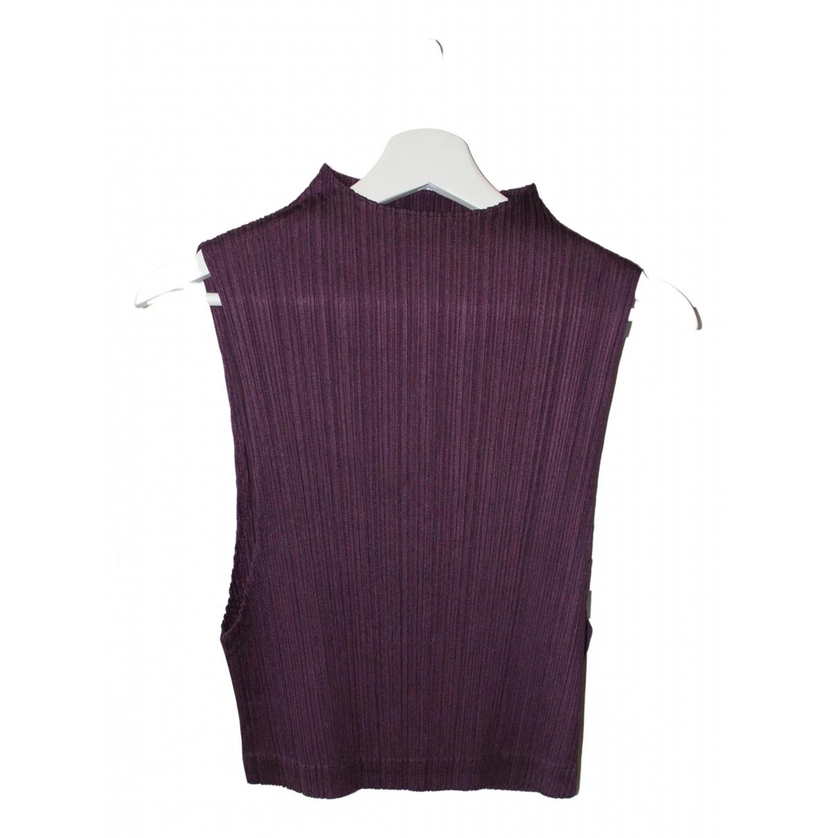 Pleats Please - Top   pour femme - violet