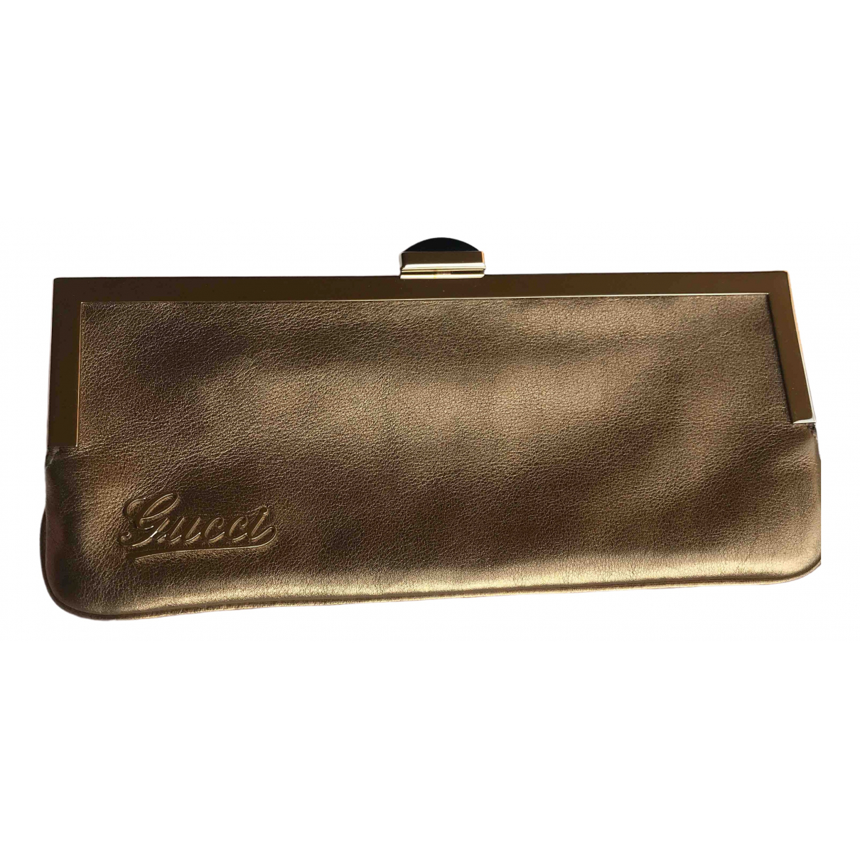 Gucci \N Gold Leather Clutch bag for Women \N