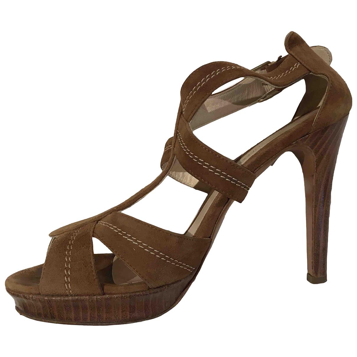Gerard Darel N Camel Suede Sandals for Women 41 EU